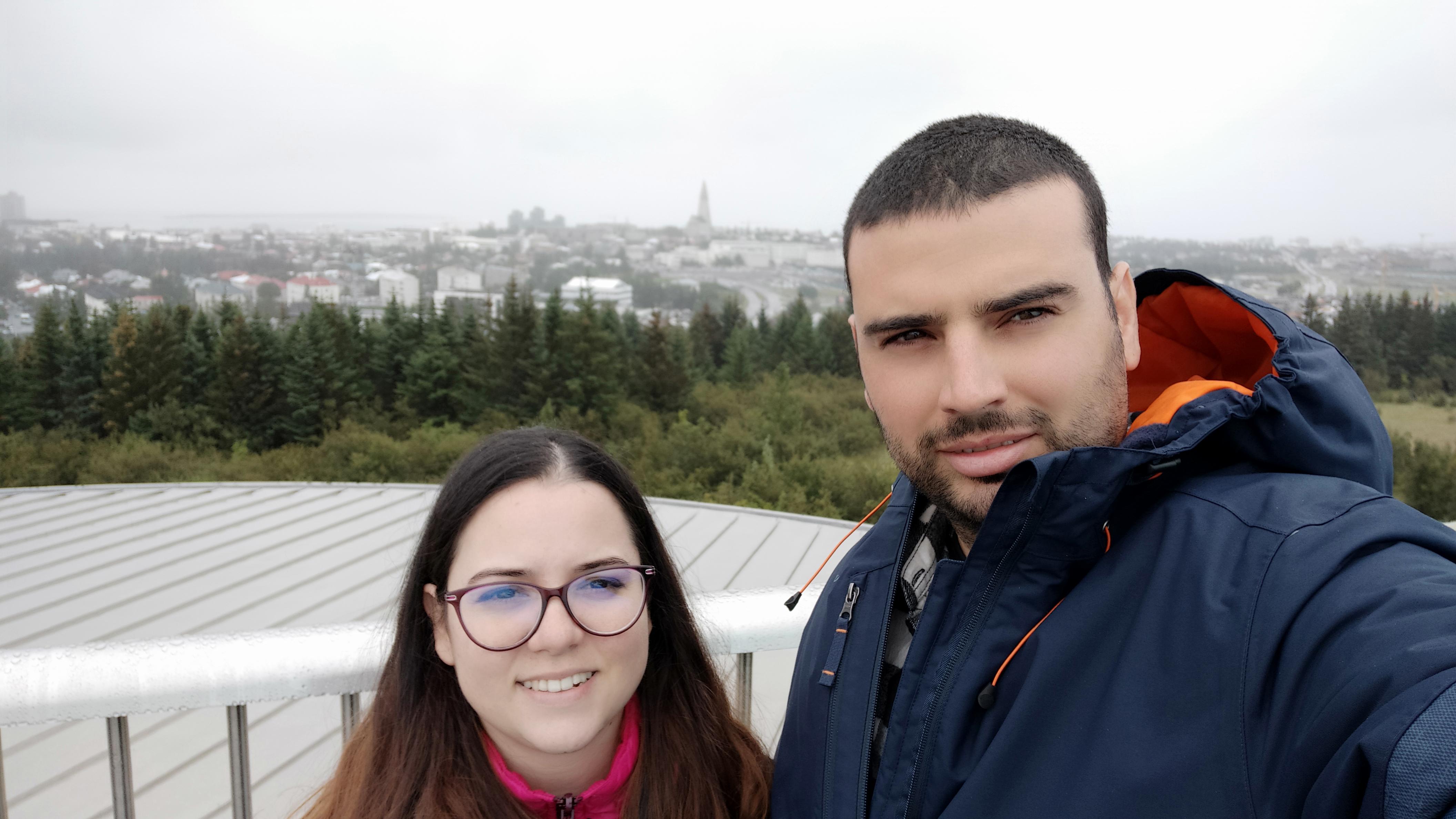 Perlan and Reykjavik view