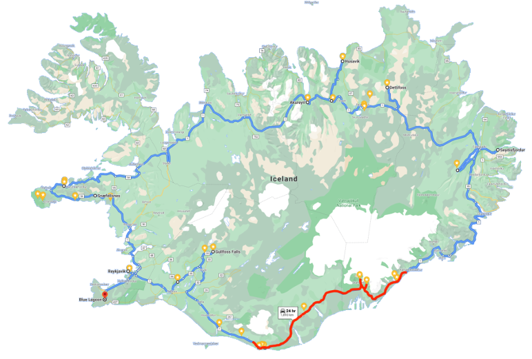 Day 2 of the ring road trip Iceland